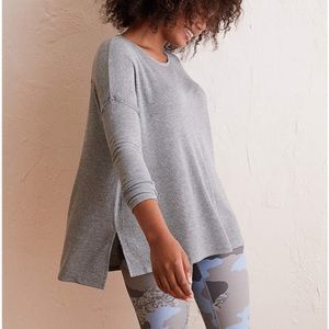 Aerie real soft thermal dolman waffle tee top L